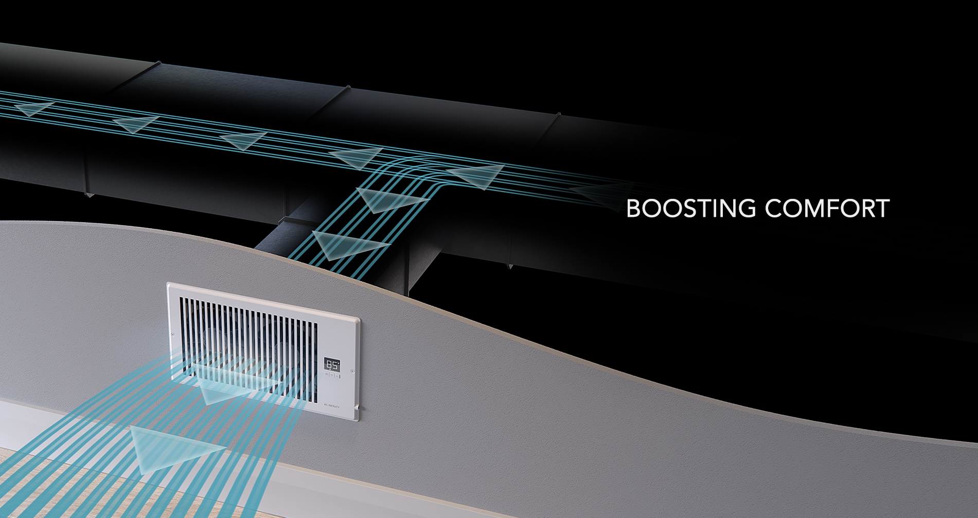 Home Ventilation - Register Booster Fans - AC Infinity