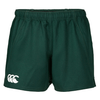 Canterbury advantage rugby shorts available in forest green.