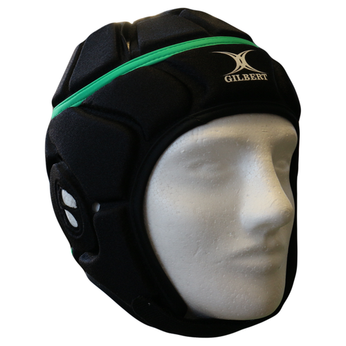Gilbert Atomic Headguard - Black/Green