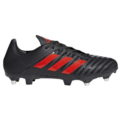 SG RUGBY BOOTS - BLACK/RED Adidas Malice Control SG Rugby Boots - Black/Red