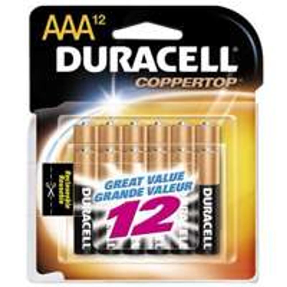 """Duracell, Alkaline Battery, 1.5 Volt, """"AAA"""", 12 Pack"""