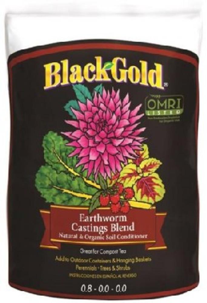 Black Gold Organic Earthworm Castings 16 Qt, OMRI Certified