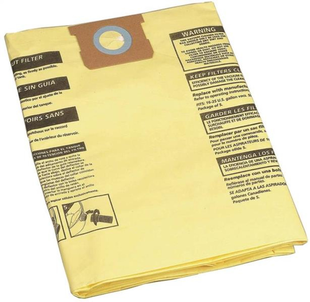 Shop Vac Disposable Drywall Filter Bag. Fits 5-8 Gal Vacs. 2 Pack