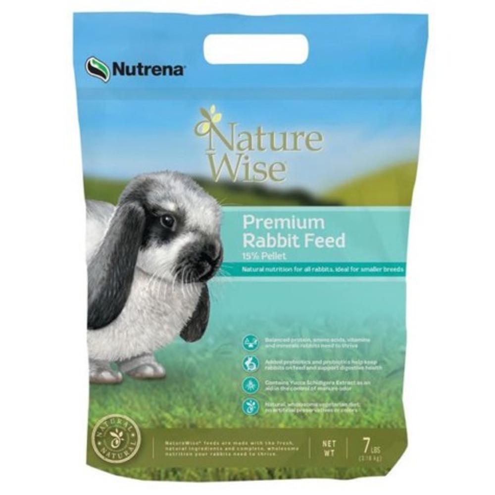 Nature Wise Rabbit Pellets, 15%, 25 Lb