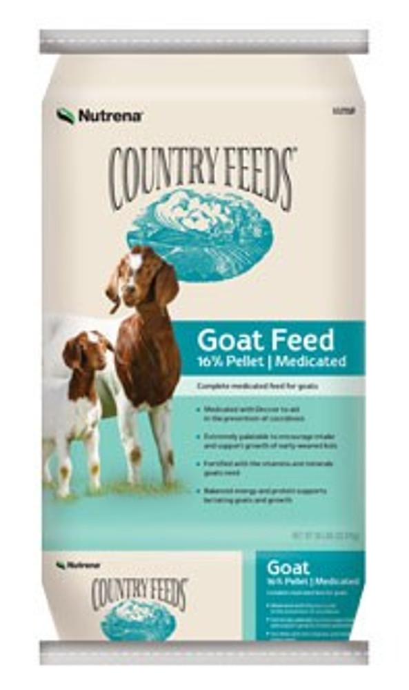 Country Feeds Medicated Goat Pelleted Feed 17%50 Lb