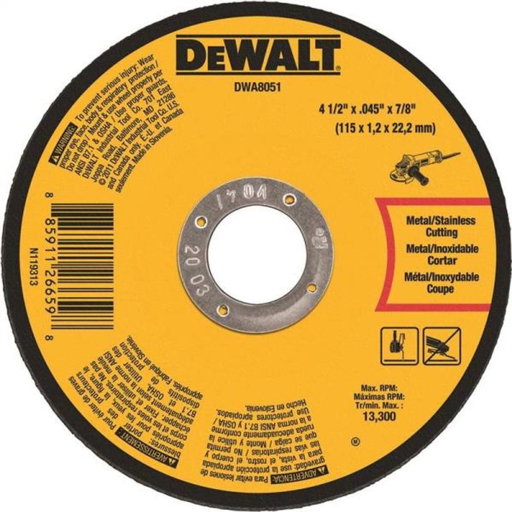 "Metal Cut Off Wheel, 4.5"" x .045"", 7/8"" Arbor"