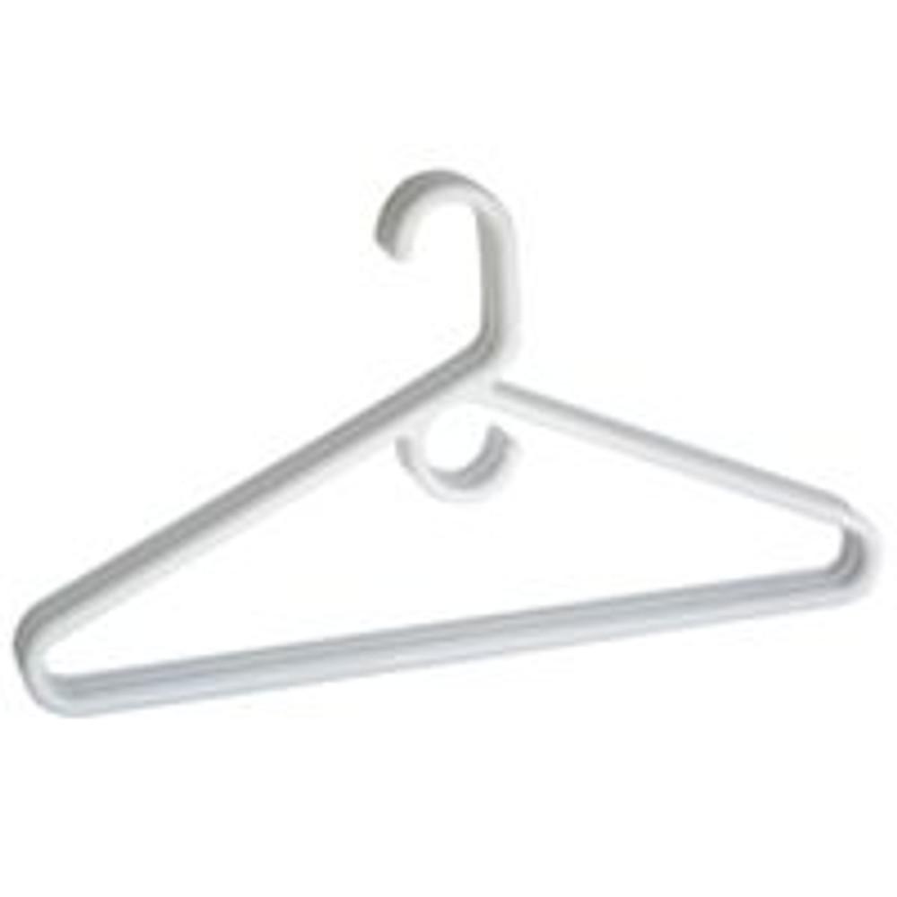 Clothes Hanger, Plastic Tubular, 3 Pack