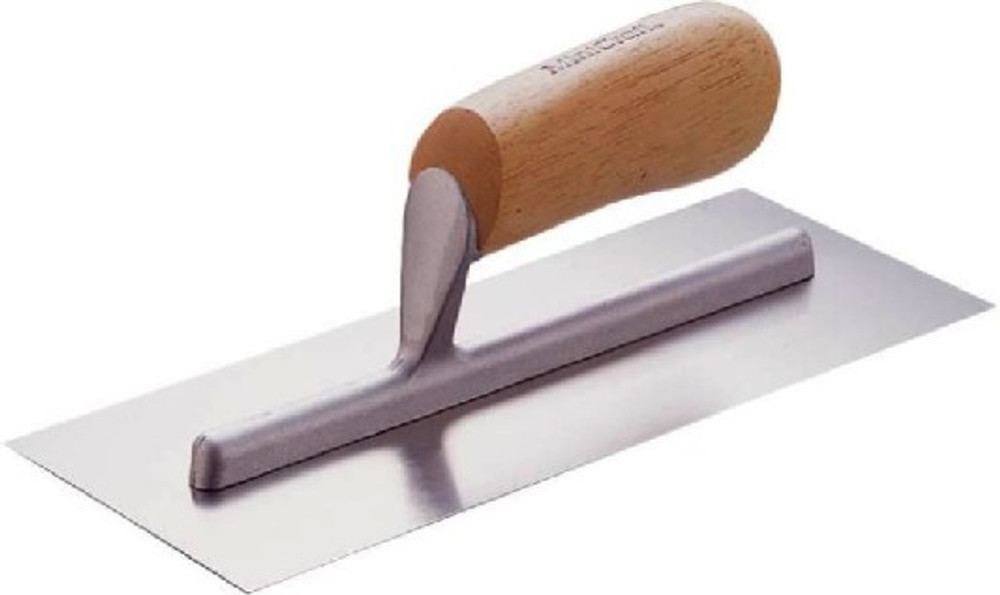 Cement Trowel, 4 in W x 18 in L, Steel Blade, Wood Handle
