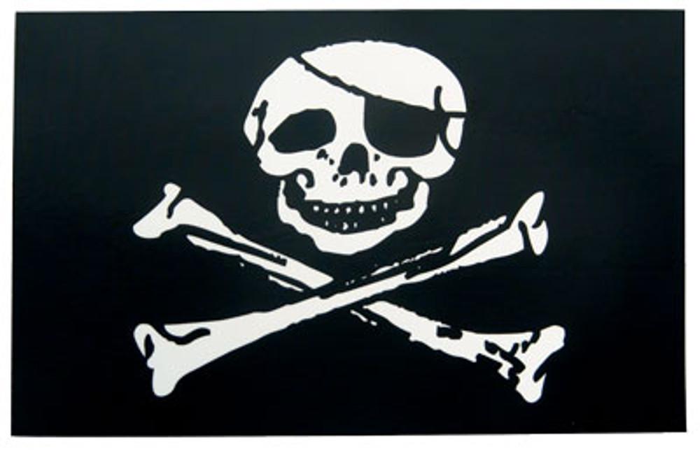 "Jolly Rodger Flag,  12"" X 18"", Nylon"
