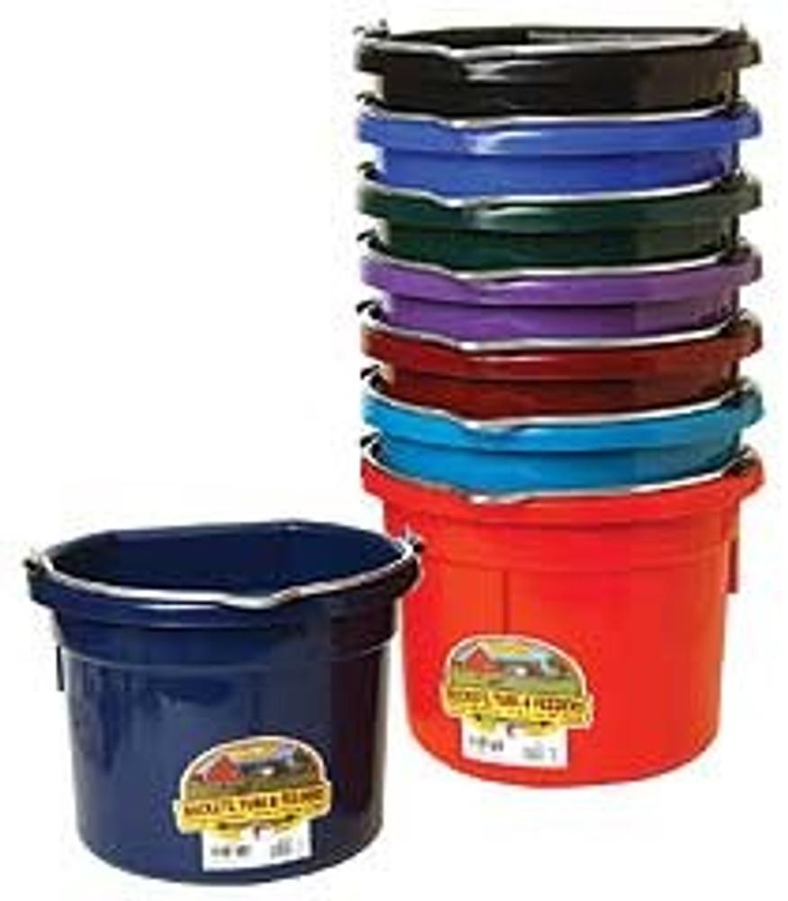 Flat Back Bucket, 8 Quart, Blue