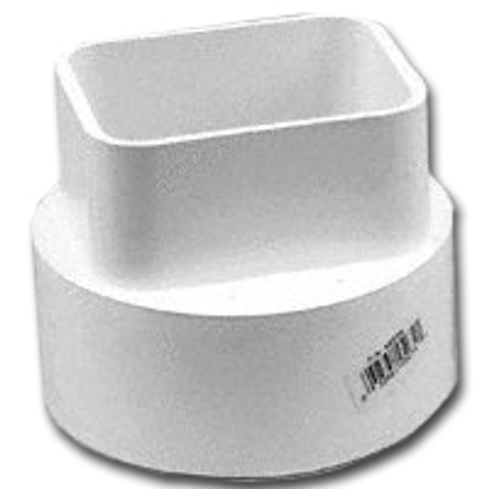 "Downspout to Drain Pipe Adapter, 2"" x 3"" x 4"" S&D"