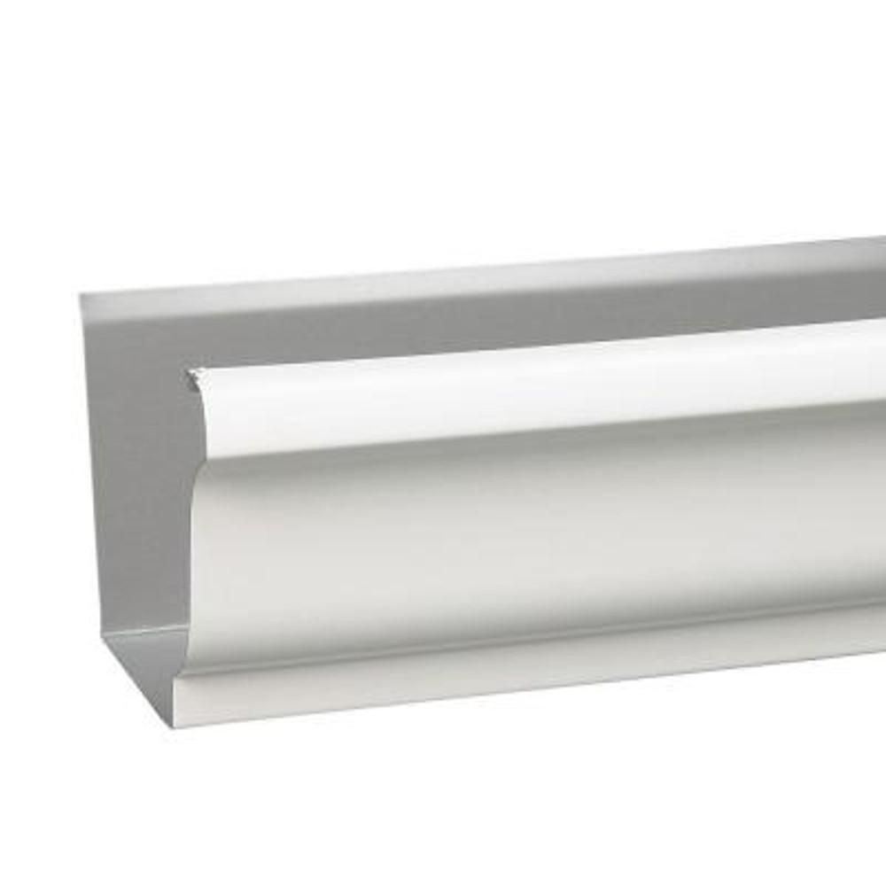 """Aluminum Gutter, White 5"""" x 10'"""