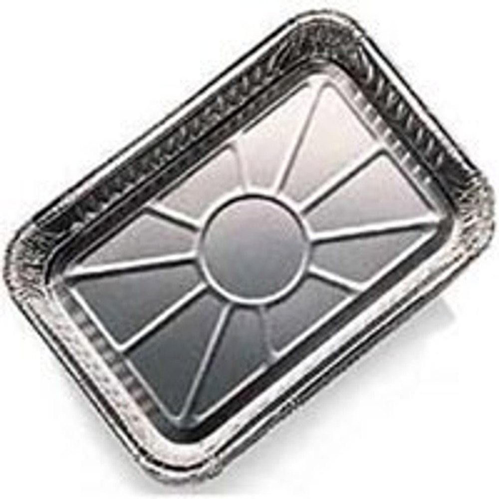 "Weber, Drip Pan, 8.5"" x 6', Aluminum, 10 Pack, Disposable"