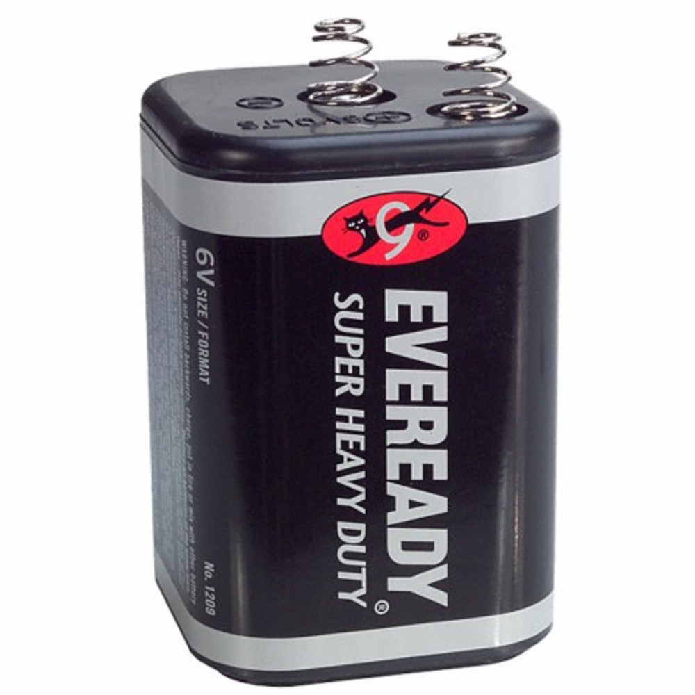 Lantern Battery, 6 Volt, Spring Terminals