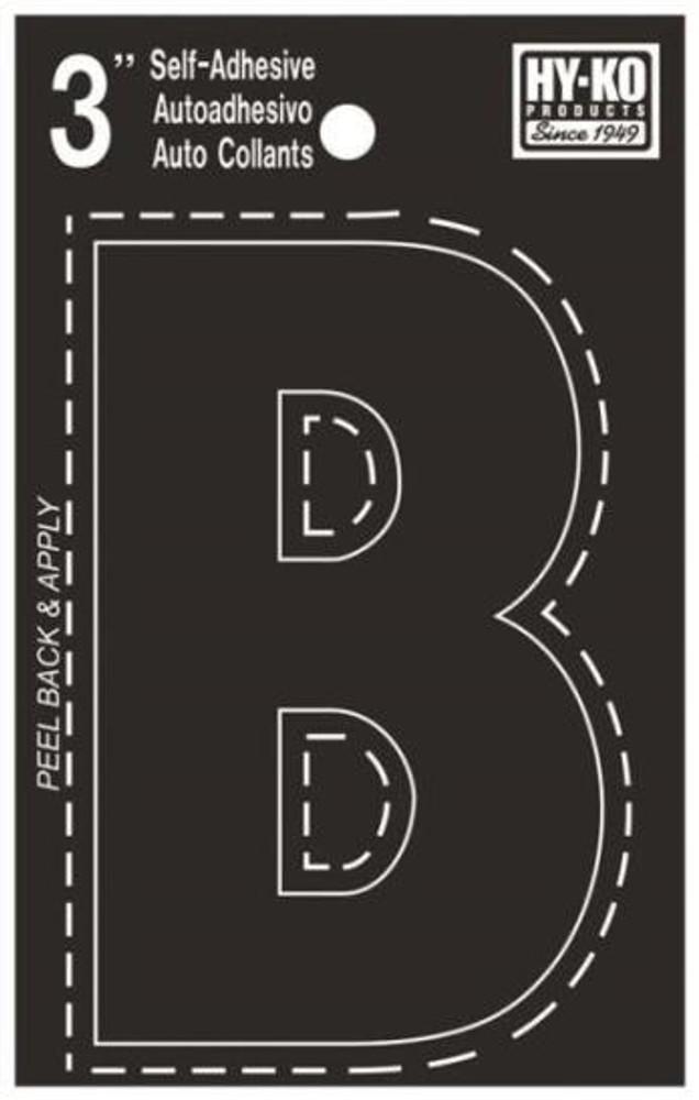"Boat Letter, ""B"", Die Cut, 3"" High"