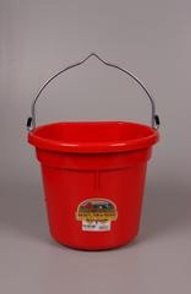 Bucket Flat Back 20 Qt Red