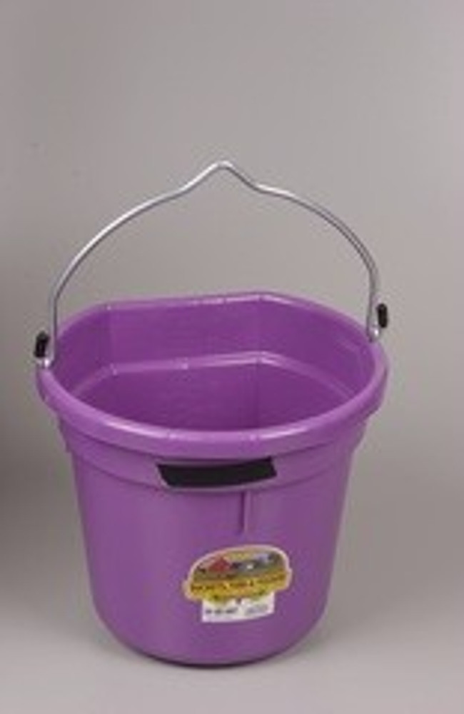 Bucket Flat Back 20 Qt Purple