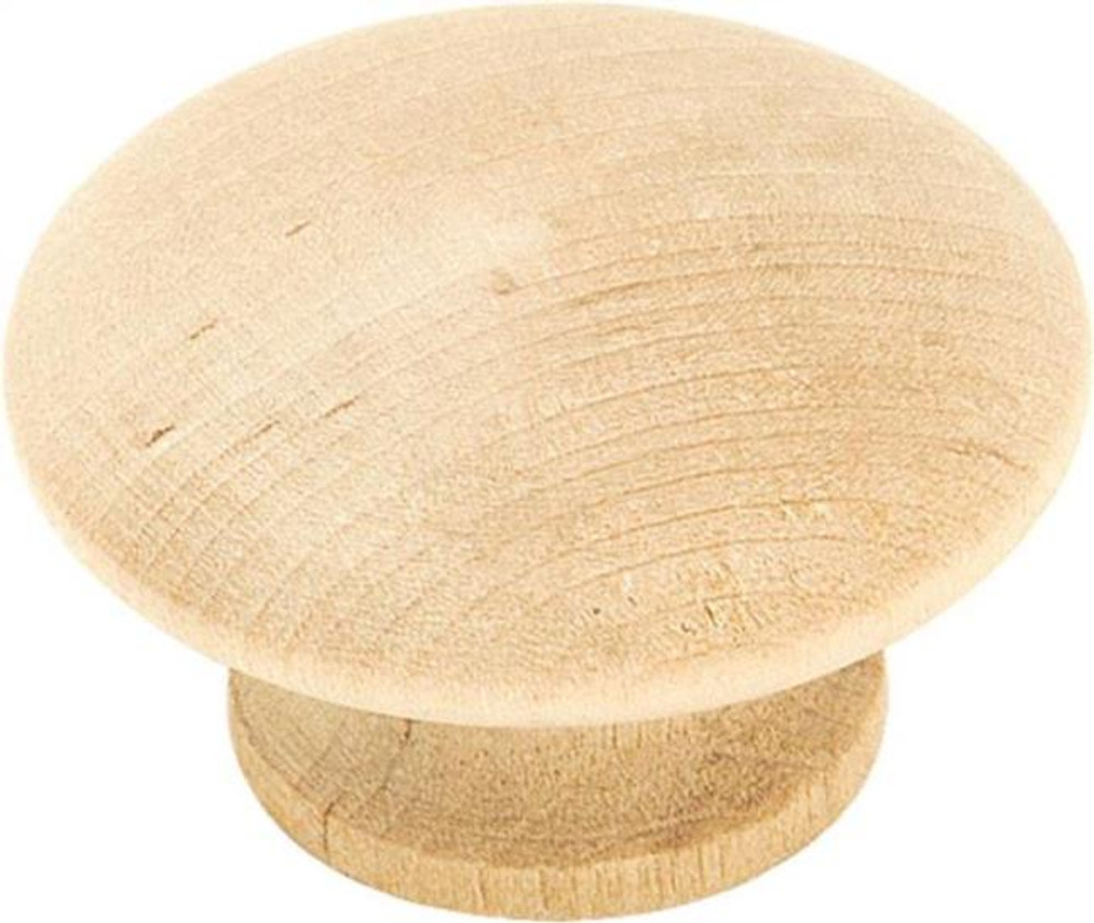 "Amerock BP813WD, Round Wood Knob, 1-1/2"" Dia, 2 Pack"