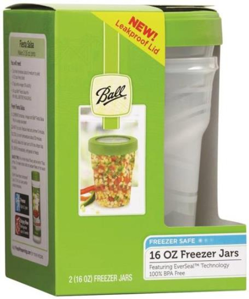 Ball, Freezer Jar, 16 Oz, 2 Pack