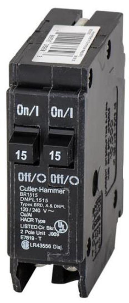 Cutler-Hammer, BR1515, Dual 15 Amp Breaker