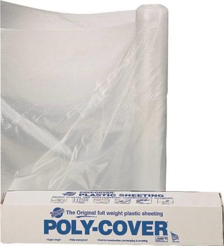 Plastic Sheeting, 6 Mil,  8' x 100', Clear