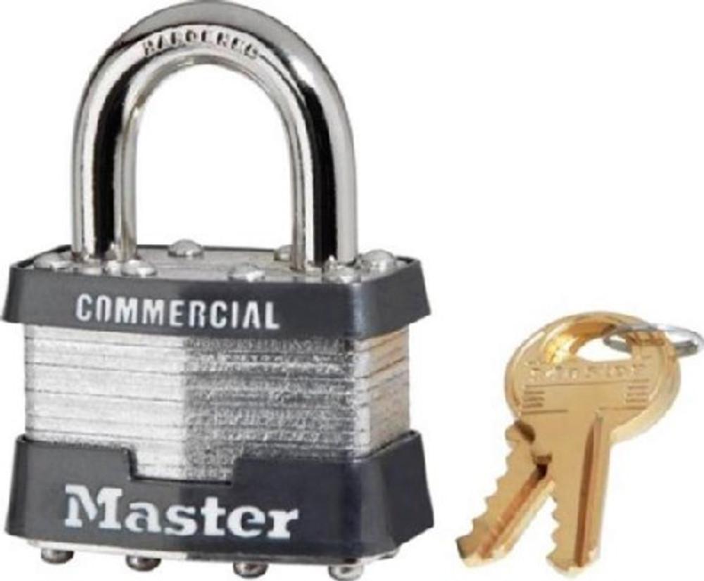 Master Lock, 1 KA # 2043, Pad Lock, Keyed Alike, With 2 Keys