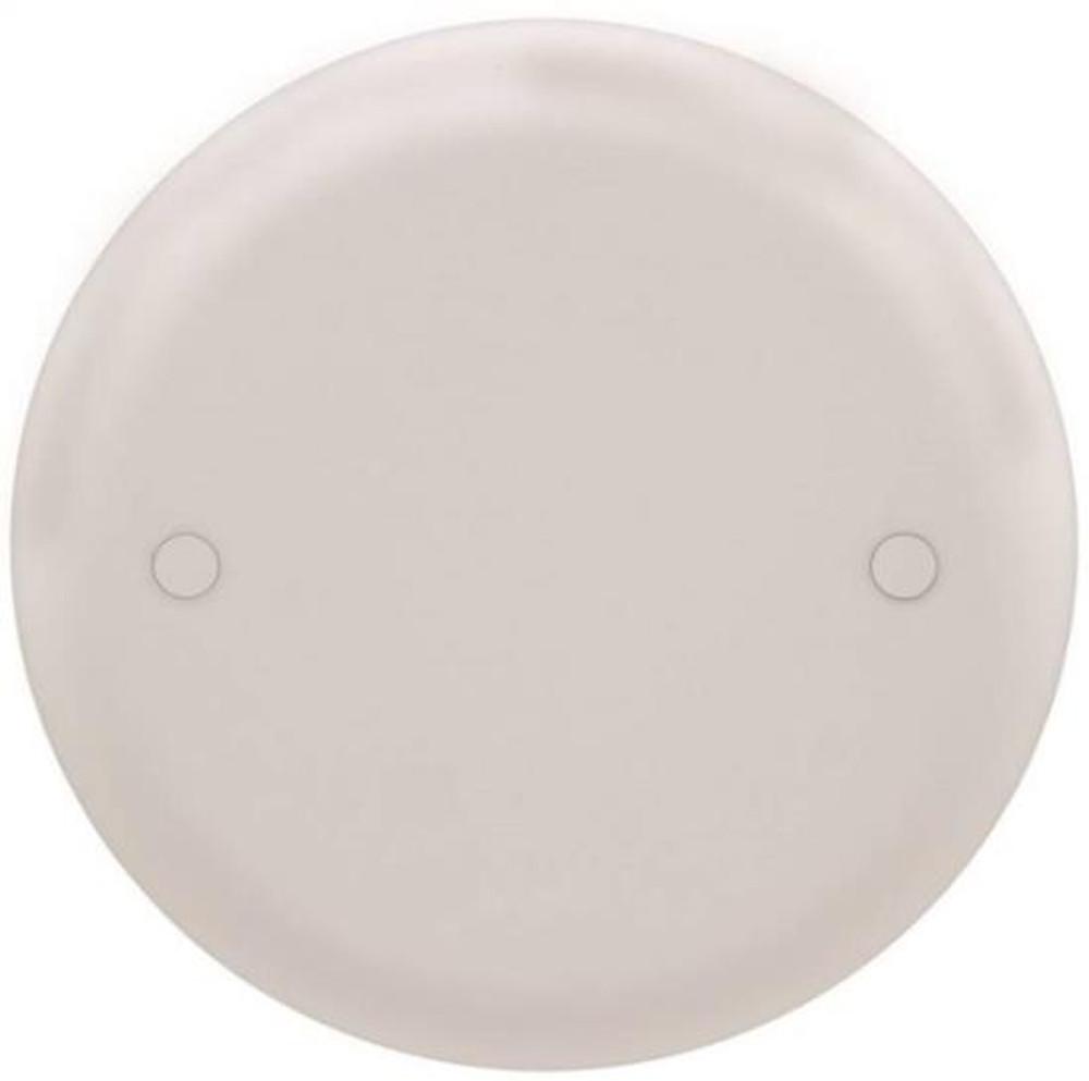 Ceiling Box Blank Cover, White, Plastic