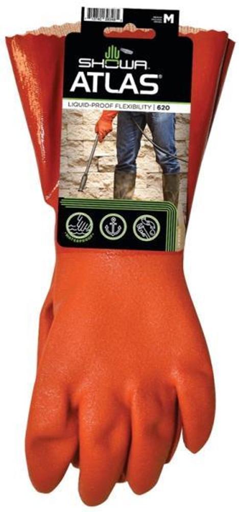 Gloves, Atlas 620, PVC Coated, Cotton Lined, Medium