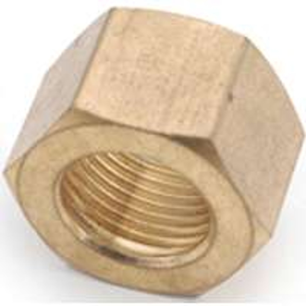 """Compression Fittings, 1/2"""",Nut, Brass"""