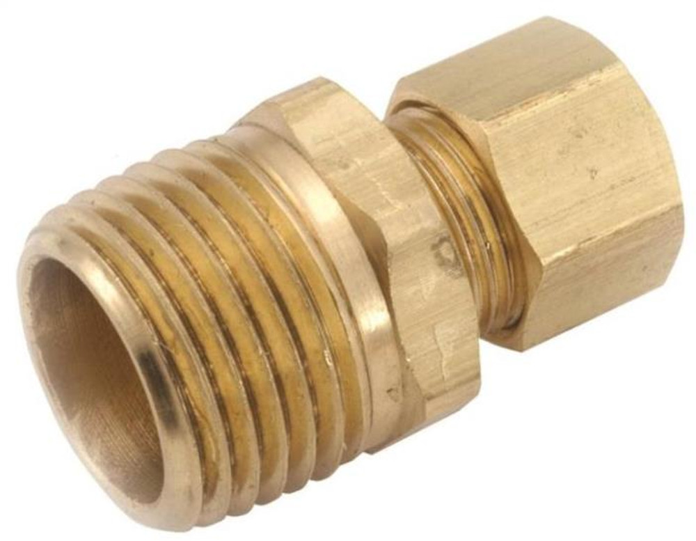 "Compression Fittings, 3/16"", Adapter x 1/8"" MPT, Brass"
