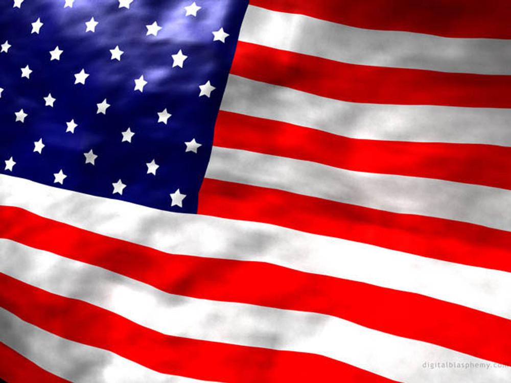 US Flag,  5' x  8', Nylon, Sewn Stars & Stripes