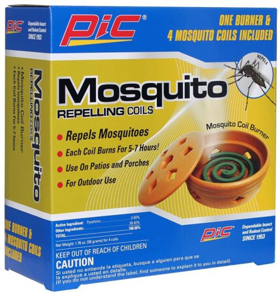 Mosquito Repelling Coils, With Burner