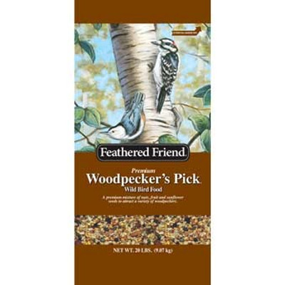 Feathered Friend, Woodpecker Bird Food, 20 Lb Bag
