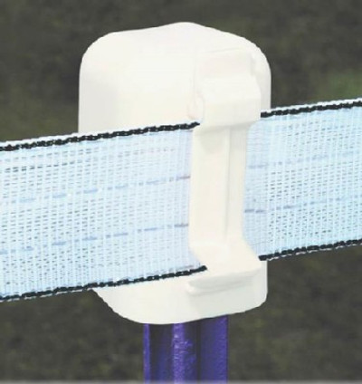 """Electric Fence T-Post Cap & Insulator, For Up To 2"""" Poly Wire Tape"""