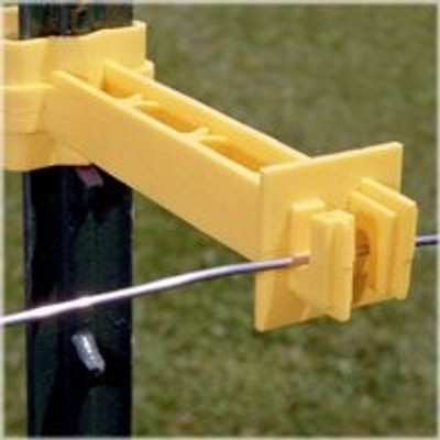 """Electric Fence T-Post Insulator, 5"""" Extended"""