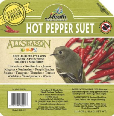 Heath All Season Hot Pepper Suet Cake, 11.25 Oz