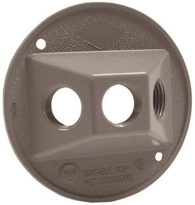 Outdoor Round Cluster Cover Gray