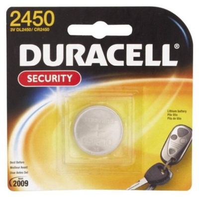 Duracell, CR2450, 3 Volt, Lithium/Manganese Dioxide Battery