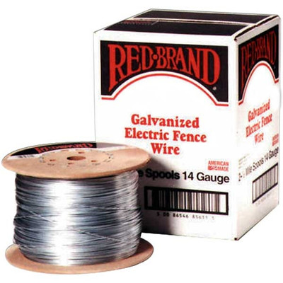 Electric Fence Wire, 14 Ga X 1/2 Mile Galv