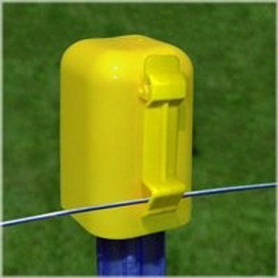 Electric Fence T-Post Cap Polytape Insulator, 10 Pack