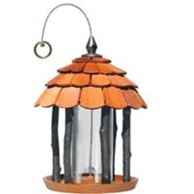 Woodstream Model 50129, PERKY-PET, Wood Gazebo Bird Feeder, 2 lb Capacity