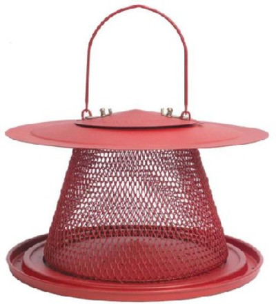 Cardinal Collapsible Design Wild Bird Feeder, All Metal, 2-1/2 Lb Capacity