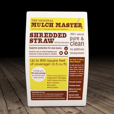Mulch Master Shredded Straw, 3.5 Cubic Ft