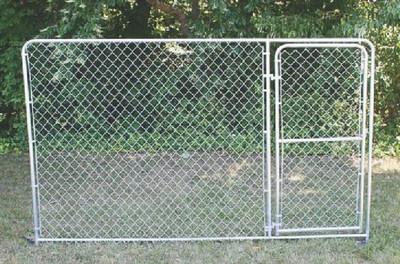 Dog Kennel, Gate Panel, 10' Long x 6' High, Galvanized