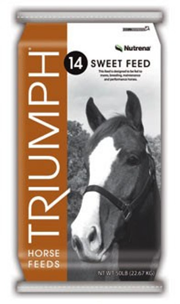 Triumph 14% Textured Sweet Horse Feed, 50 Lb Bag
