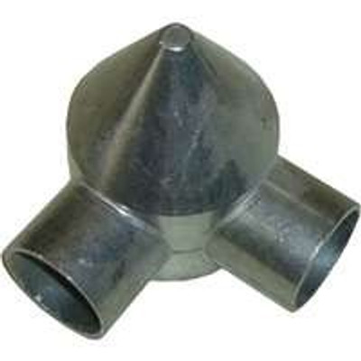 """Chain Link Fence Post 2-3/8"""" Two Way Bullet Cap"""