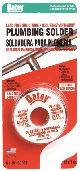 Oatey Model 53027  95/5 Solder .25 Lb