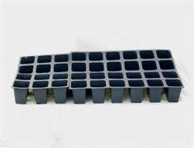 "Plant Plug Tray, 48 Cells, 11"" x 22"", Black"