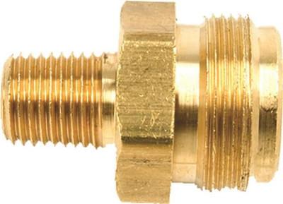 "Propane Fitting 1/4"" MPT X 1""-20 Disp Cylinder Tread"