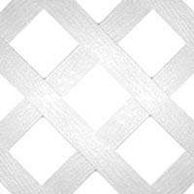 "Plastic Lattice Panel 24"" x 96"" 8'  White"